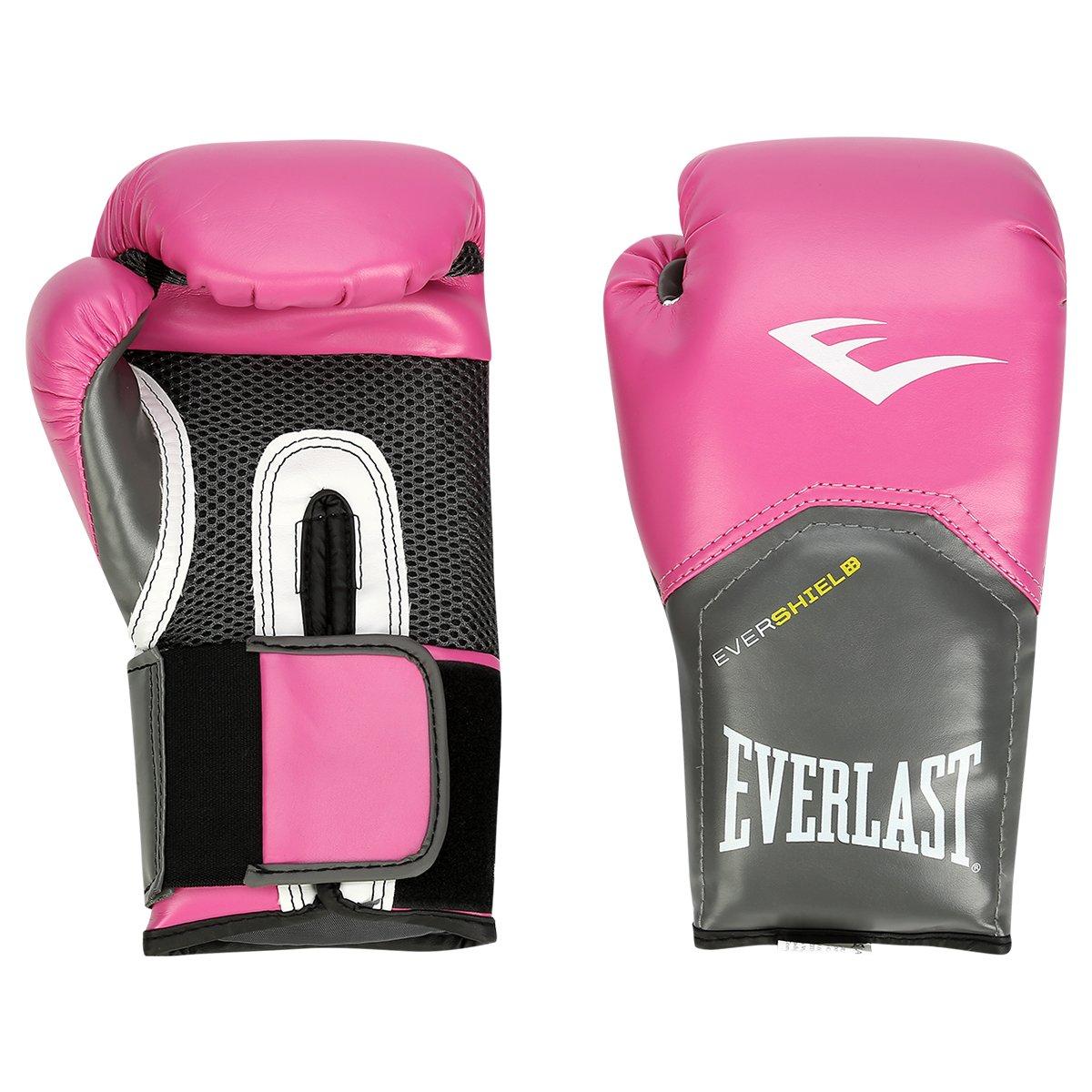 Luva de Boxe Everlast Pro Style - 8 oz - Pink - Compre Agora  a70ce5514373c