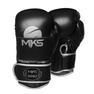 Luva de Boxe MKS Combat Energy V2N Black & Silver