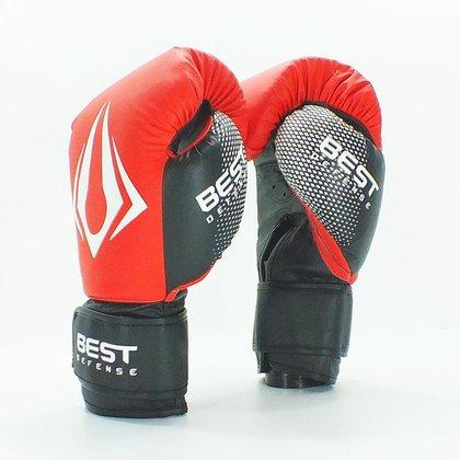 Luva de Boxe Muay Thai Diamond Best Defense - Branco - 16oz