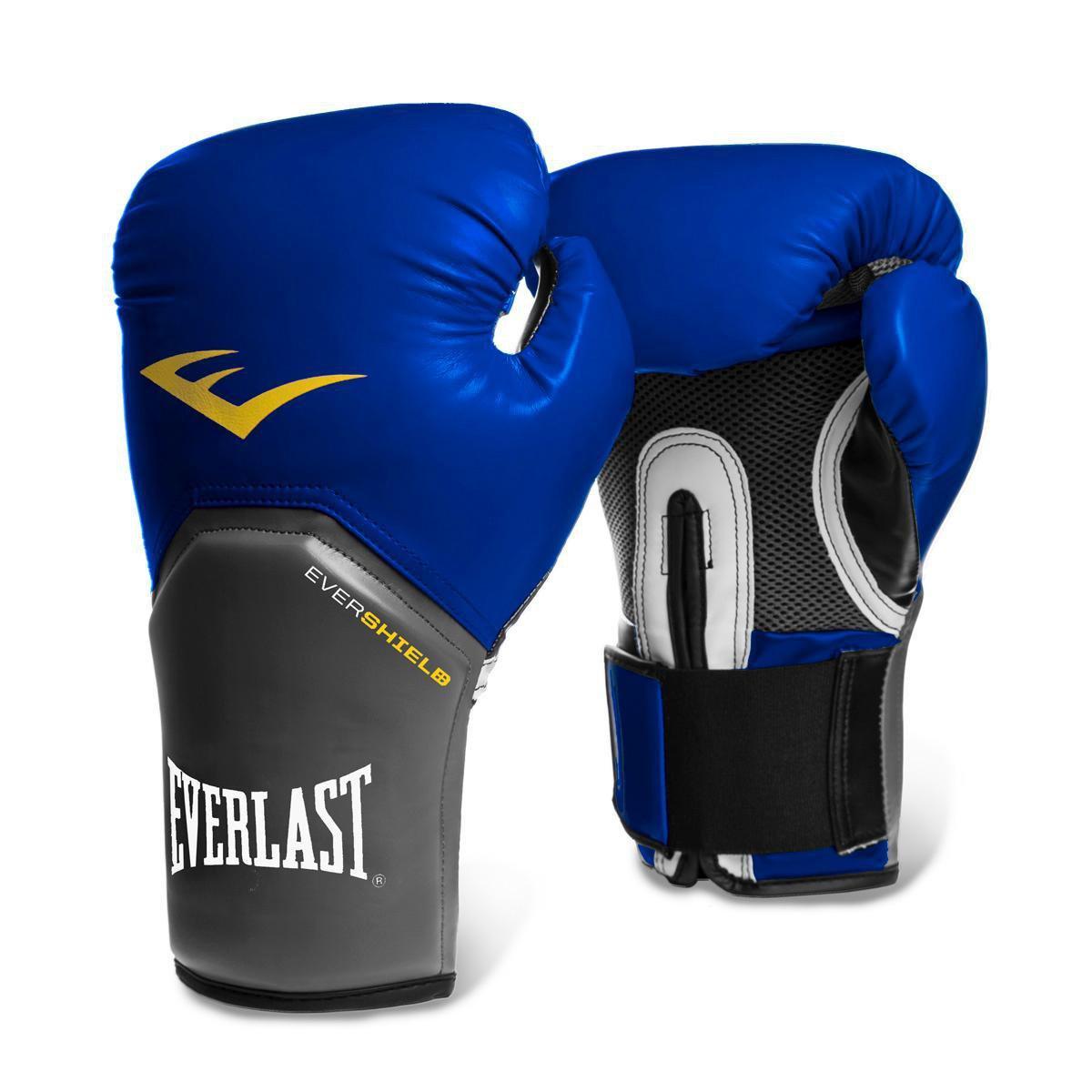 0249dc0c996b5 Luva de Boxe Muay Thai Everlast Pro Style - 12 oz - Azul - Compre Agora