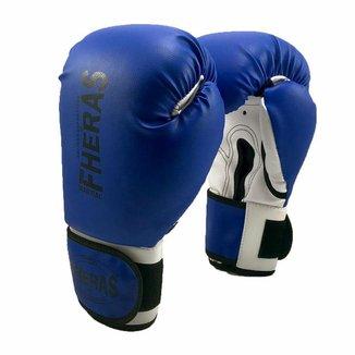 Luva de Boxe/Muay Thai Fheras Orion Tradicional Azul/Branco
