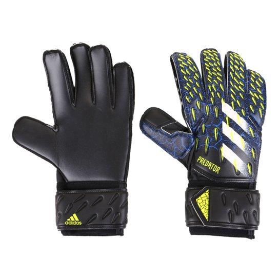 Luva de Goleiro Adidas Predator Match - Azul Royal+Preto