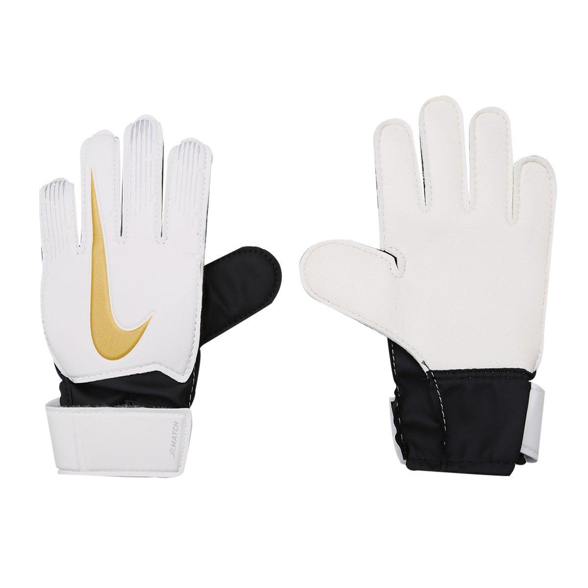 Luva de Goleiro Infantil Nike Match - Branco e Preto - Compre Agora ... 90842e20d694b