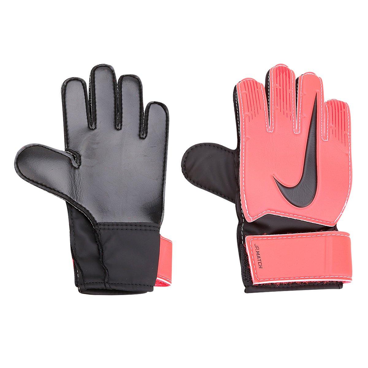 Luva de Goleiro Infantil Nike Match - Preto e Vermelho - Compre ... 5d3f1026f6b50