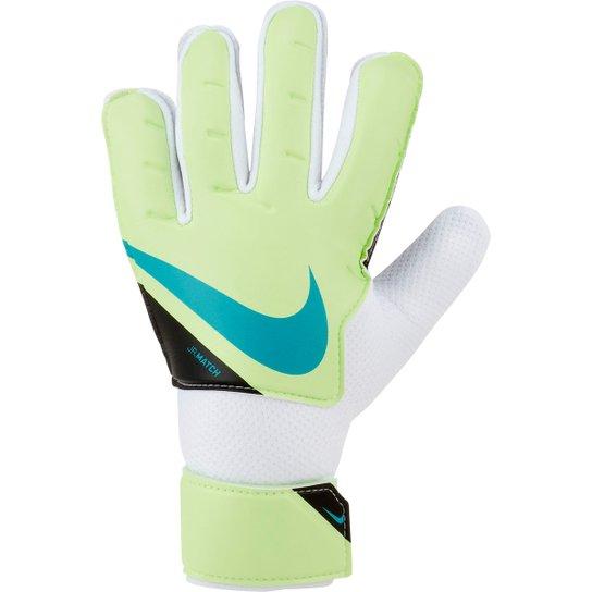 Luva de Goleiro Juvenil Nike Match - Verde+Branco