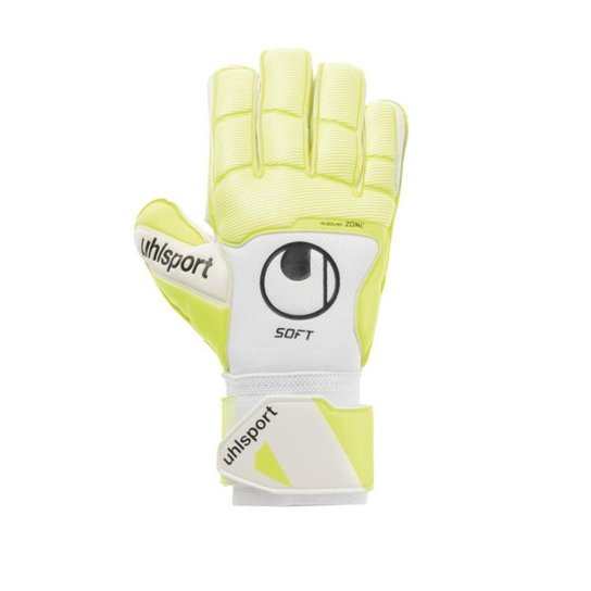 Luva de Goleiro uhlsport Pure Alliance Soft PRO Profissional - Amarelo+Branco
