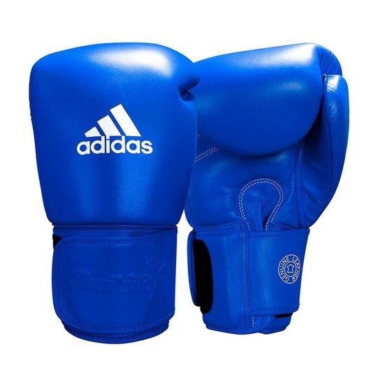 Luva de Muay Thai adidas Couro Blue Pro Thai - Azul
