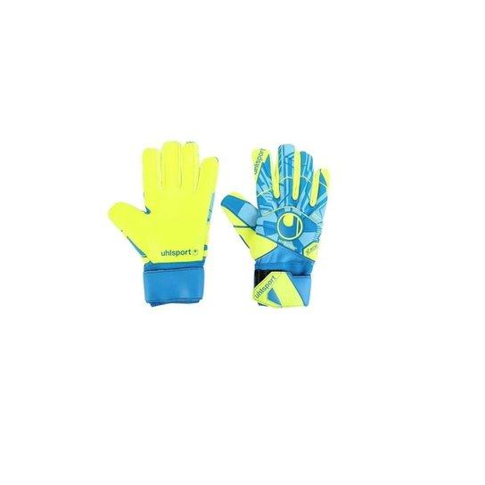 Luva Goleiro Uhlsport Radar Control Absolutgrip Hn Adulto - Azul+amarelo
