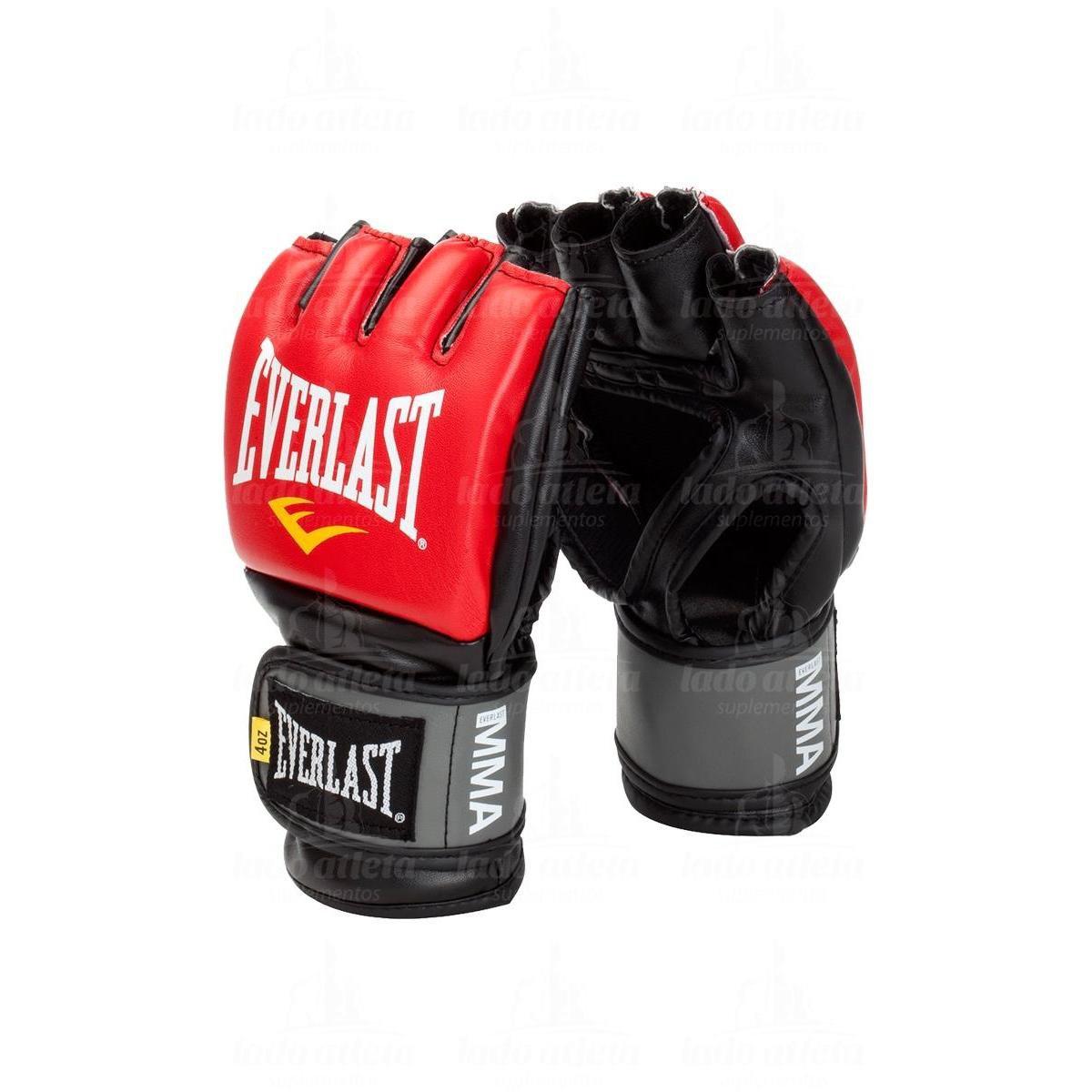 Luva Mma Pro Style Grappling - Everlast - Vermelho e Preto - Compre ... bef0b5e5e5282