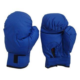 Luva para muay thai feminina e masculina boxe bate saco box - Par de luvas cor azul