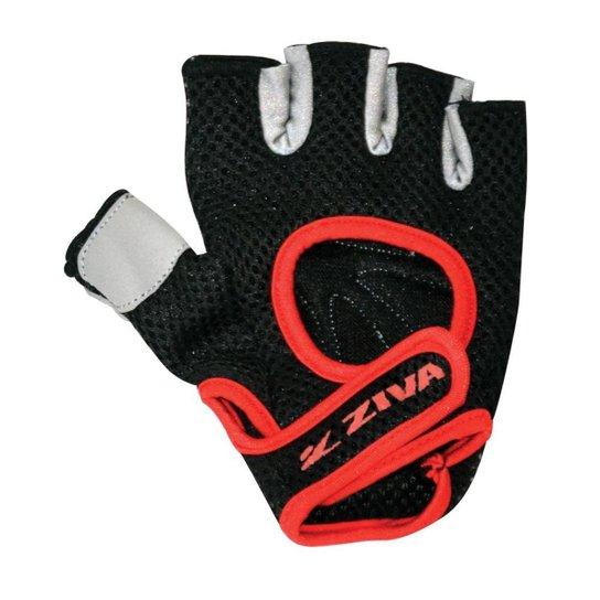 Luva Para Musculação Power Series Ziva - Preto+Vermelho