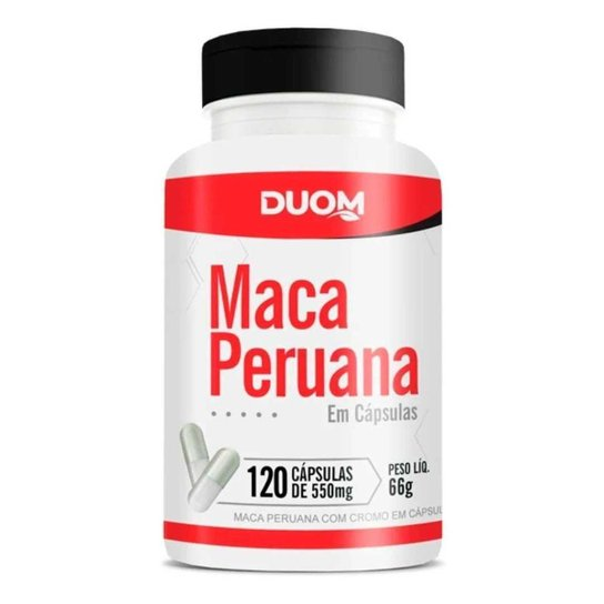 Maca Peruana 550mg 120 Cápsulas Duom -
