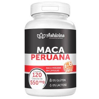 Maca Peruana Ashivins 120 Cáps  550 mg