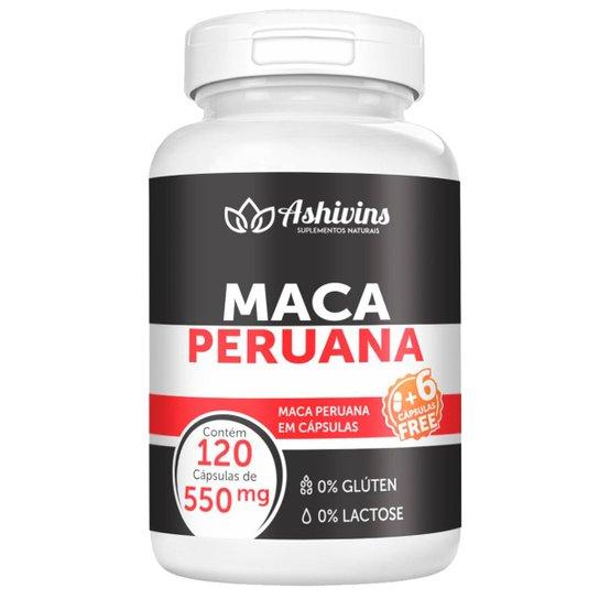 Maca Peruana Ashivins 120 Cáps  550 mg -
