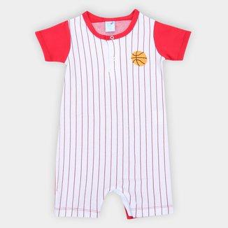 Macacão Bebê Tip Top Suedine Basket Masculino