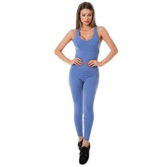 Macacão  Blue Boy Poliamida Costa Cruzada Moda Fitness 3002C