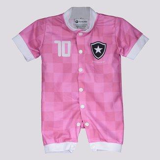 Macacão Botafogo Style Rosa e Branco
