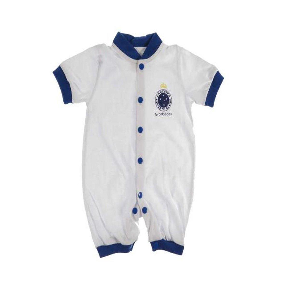 25119b1b4b Macacão Curto Bebê do Cruzeiro - Compre Agora
