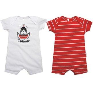 Macacão Curto Bebê Nigambi Captain 2 peças Masculino