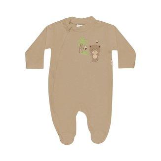 Macacão Estampado Com Ziper Plush - Anjos Baby