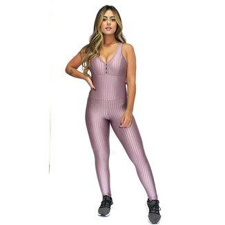 Macacão Fitness Academia Orbis Cirrê 3d Bojo Tiras Feminino