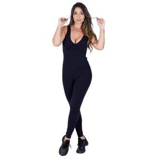 Macacão Fitness Academia Supplex Bojo Tiras Feminino Orbis