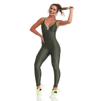 Macacão Fitness Sportive Verde P CAJUBRASIL