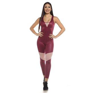 Macacão Fitness SSTYLE com Tela
