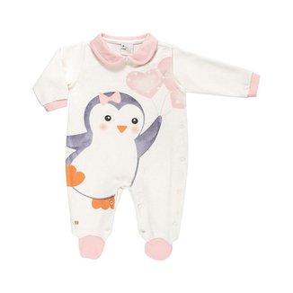 Macacão Gemeos Em Plush Pinguim - Anjos Baby