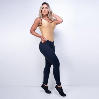 Macacão Honey Be Fitness Textura Gold Feminino