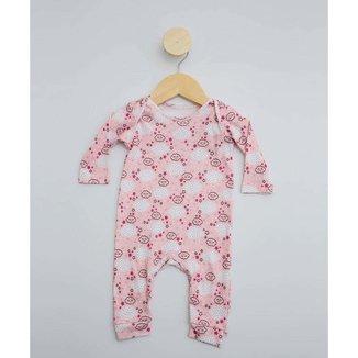 Macacão Infantil Bebê Estampado Tam 0 A 12 Meses - 10048230483