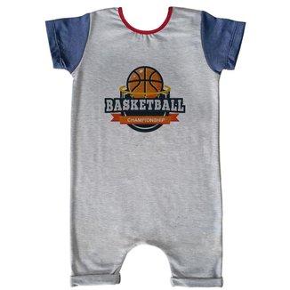 Macacão Infantil Curto Comfy Basketball