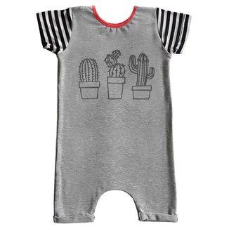 Macacão Infantil Curto Comfy Cactus