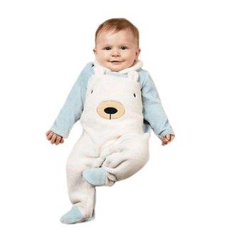 Macacão Infantil Tip Top Masculino em Plush Urso