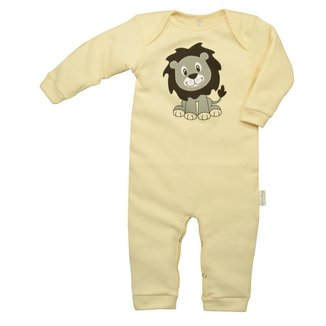 Macacão Longo Bebê Nigambi Suedine Leãozinho Masculino