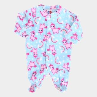 Macacão Longo Bebê Tip Top Soft Unicórnio Feminino