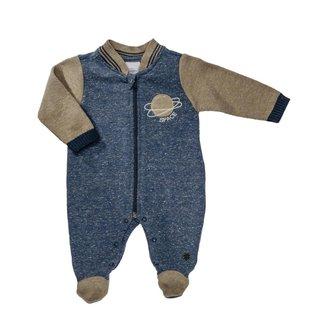 Macacão Longo Para Bebê Em Moletom Espacial - Anjos Baby