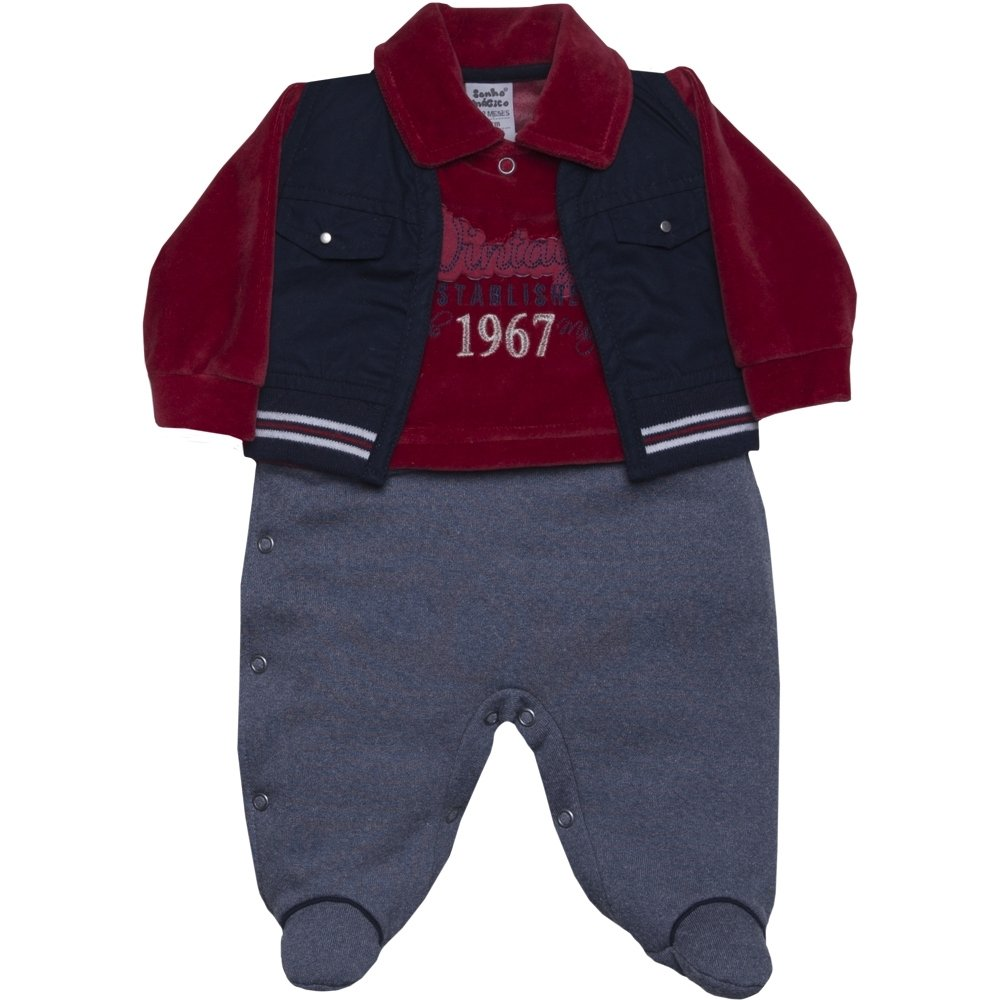 Macacão Longo Plush Vintage Vm 2Pçs 130773 - Sonho Mágico - Compre Agora  34a2d9ea3a4