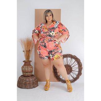 Macacão Macaquinho Plus Size Roupas Moda  Femininas GG