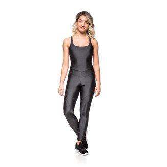 Macacão Mulher Elástica Fitness Basic Shine Feminino