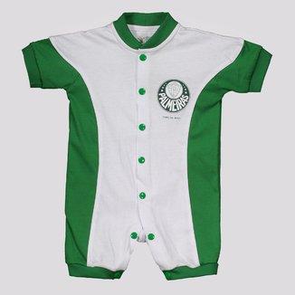 Macacão Palmeiras Curto Colorido Branco e Verde