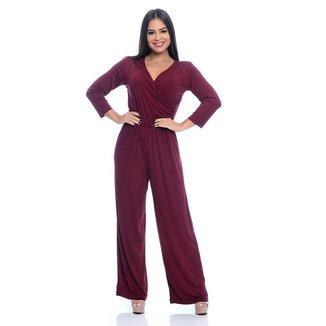 Macacão Pantalona B'Bonnie Florence Vinho