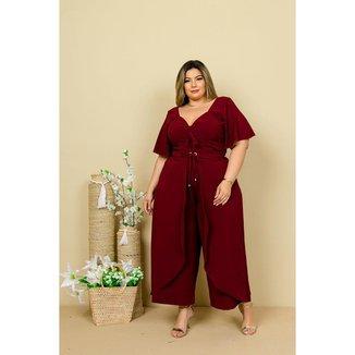 Macacão Pantalona Plus Size Moda Plus Size Roupas Femininas