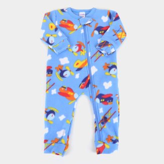 Macacão Pijama Bebê Candy Kids Soft Fleece
