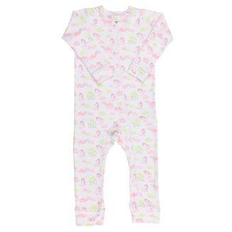 Macacão Pijama Infantil Coquelicot  com zíper e sem pé Unicórnio