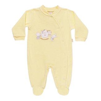 Macacão Unissex Em Plush Ursinhos - Anjos Baby
