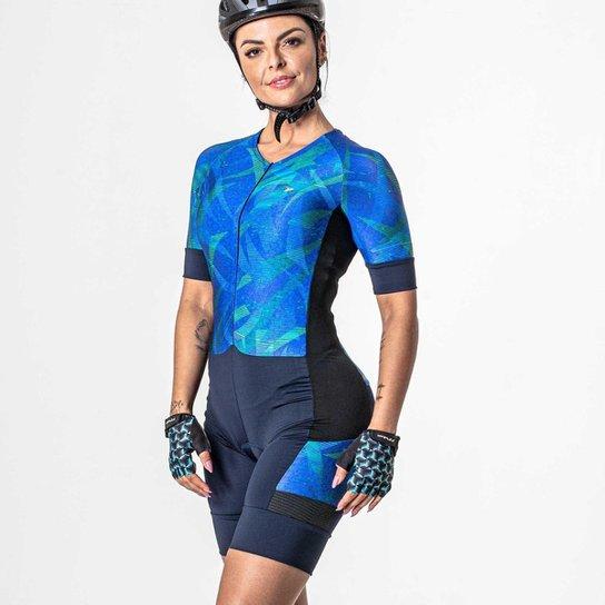 Macaquinho Bike Feminino Harpy 03825 - Marinho+Azul