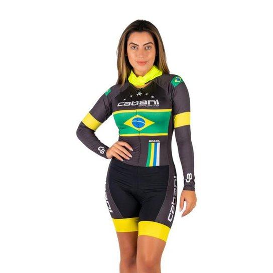 Macaquinho Cabani Sports Brasil Feminino - Preto