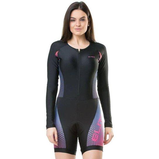Macaquinho Ciclismo Elite 119998 Feminino - Preto
