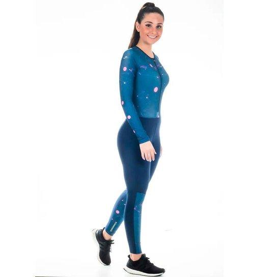 Macaquinho Ciclismo Feminino Elite Bike 129073 Ciclista Mtb - Azul